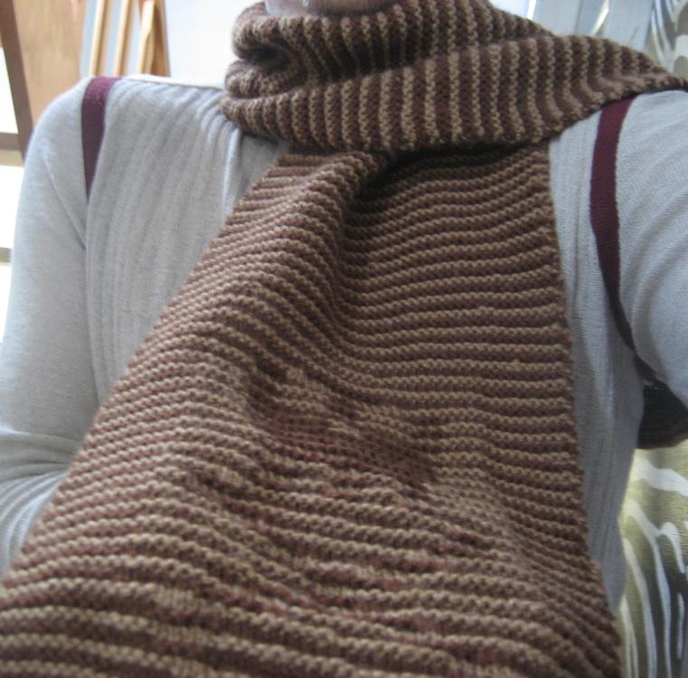 Echarpe laine point mousse   Aqualogia a8e085dfa14