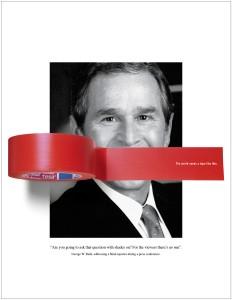 Bush scotché par TESA pour sa publicité